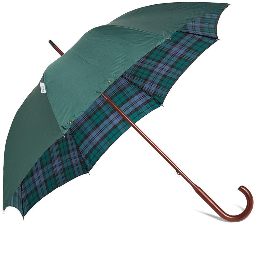 ロンドンアンダーカバー London Undercover メンズ 傘 【classic double layer umbrella】Dark Green/Campbell Tartan