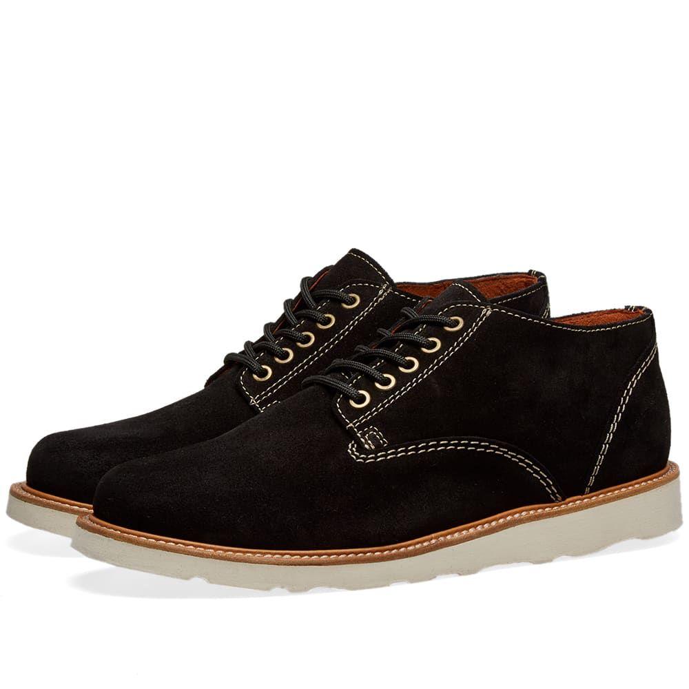 ワイルドバンチ Wild Bunch メンズ シューズ・靴【Crepe Sole Classic 5 Eyelet Shoe】Black Suede