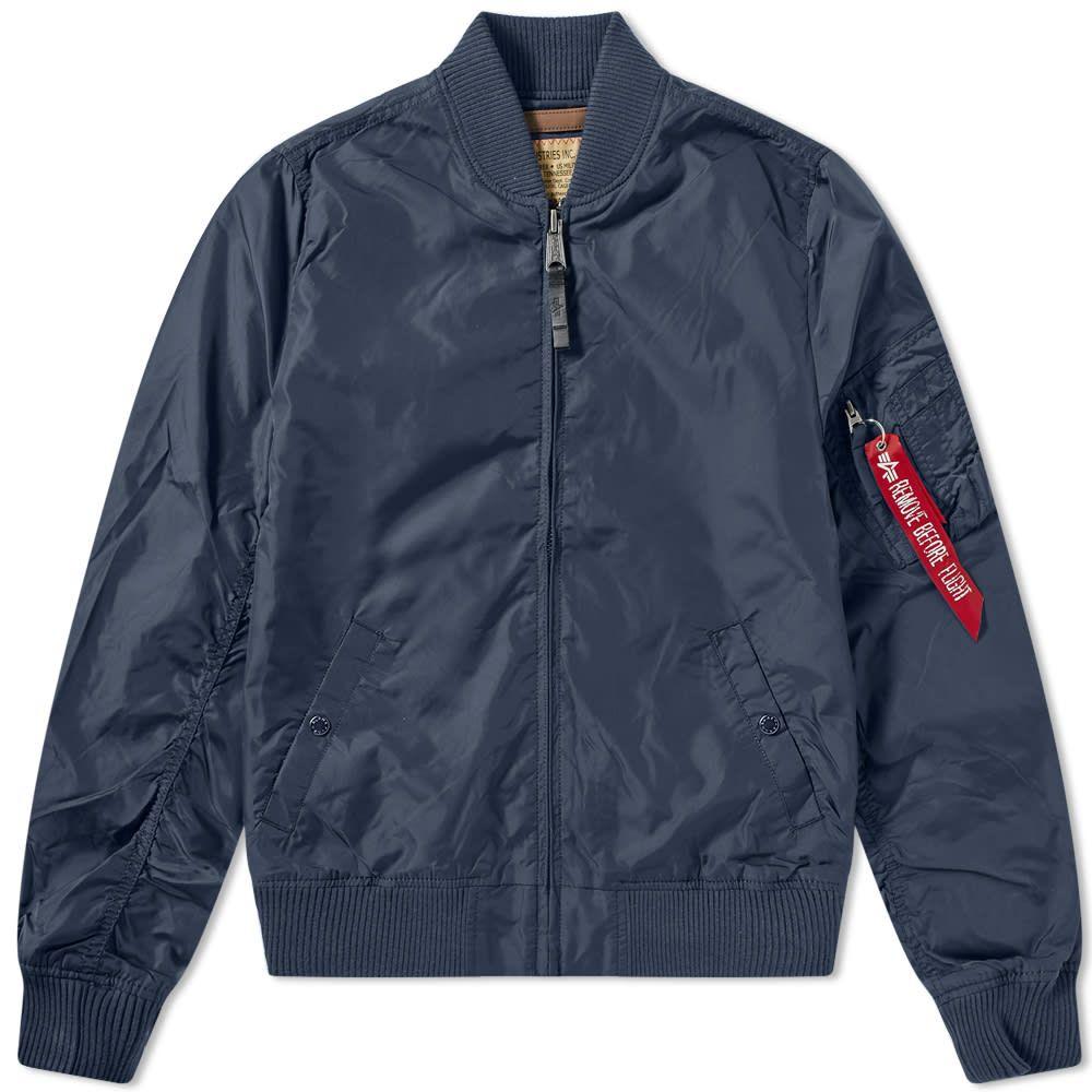 アルファ インダストリーズ Alpha Industries メンズ ブルゾン アウター【ma-1 tt jacket】Replica Blue