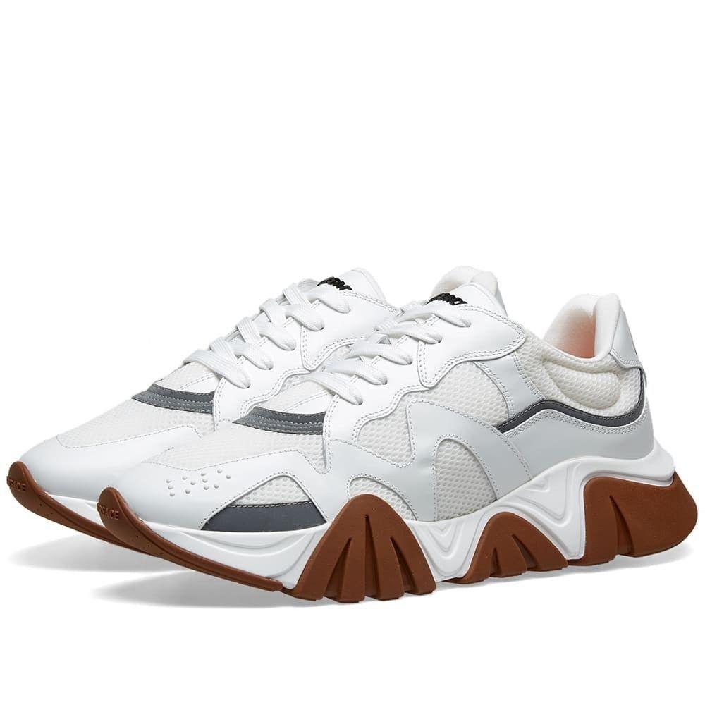 ヴェルサーチ Versace メンズ スニーカー シューズ・靴【squalo runner】White/Silver