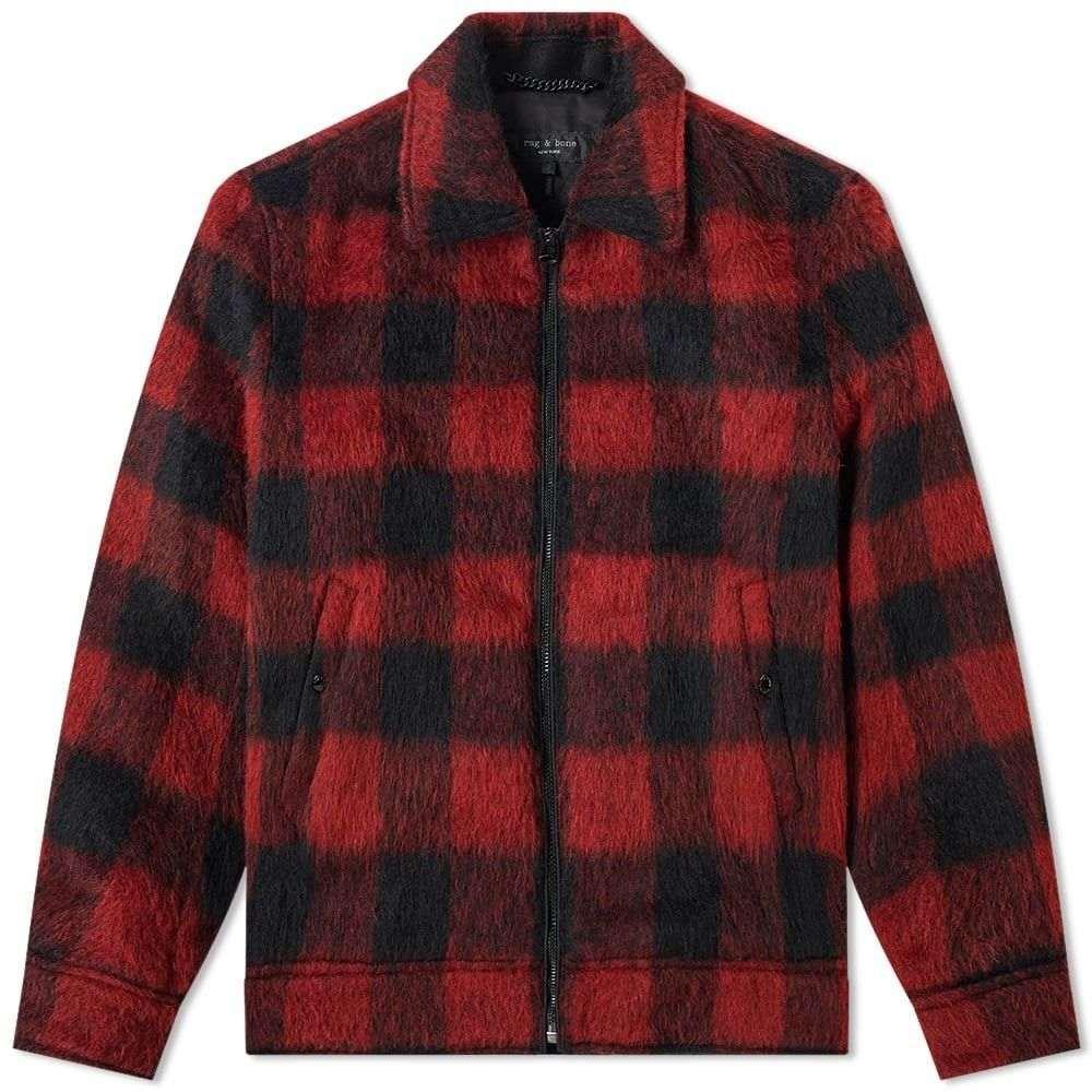 ラグ&ボーン Rag & Bone メンズ ジャケット アウター【garage jacket】Black/Red