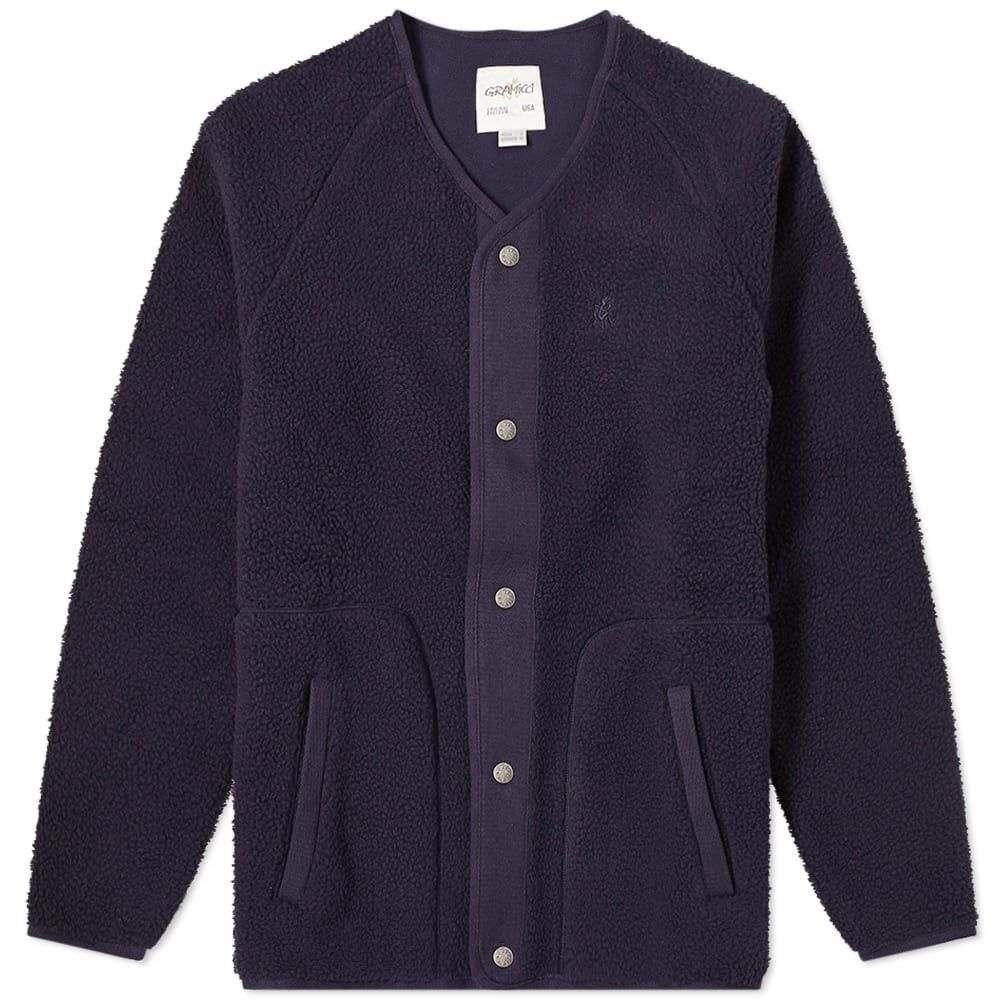 グラミチ Gramicci メンズ フリース トップス【boa fleece jacket】Navy