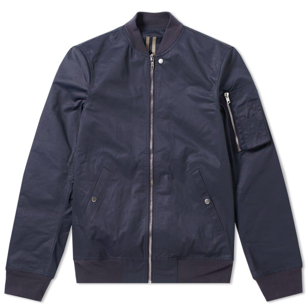 リック オウエンス Rick Owens メンズ ブルゾン ミリタリージャケット フライトジャケット アウター【drkshdw nylon flight ma-1 bomber jacket】Indigo