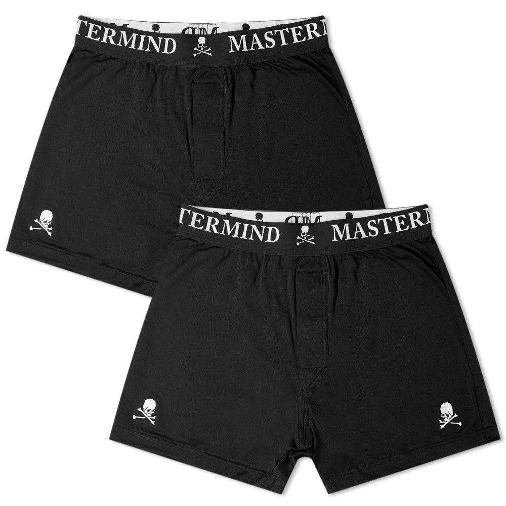 マスターマインド MASTERMIND WORLD メンズ ボクサーパンツ 2点セット インナー・下着【boxer short - 2 pack】Black