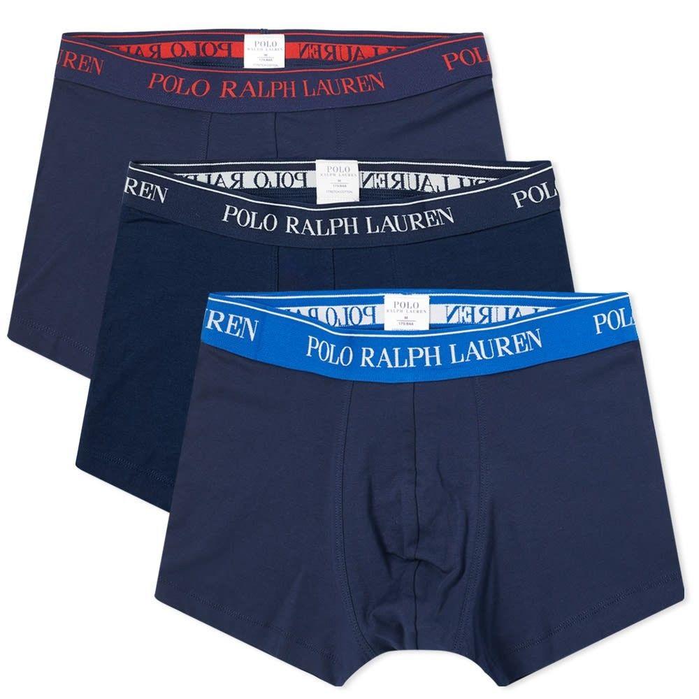 ラルフ ローレン Polo Ralph Lauren メンズ ボクサーパンツ 3点セット インナー・下着【cotton trunk - 3 pack】Navy/Sapphire/Red