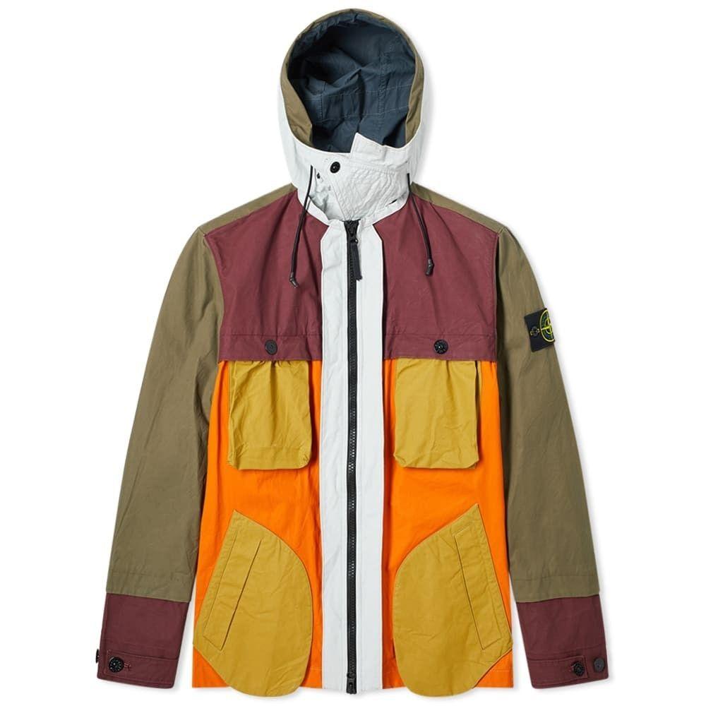 ストーンアイランド Stone Island メンズ ジャケット アウター【reflective patchwork double layered jacket】Orange/Multi