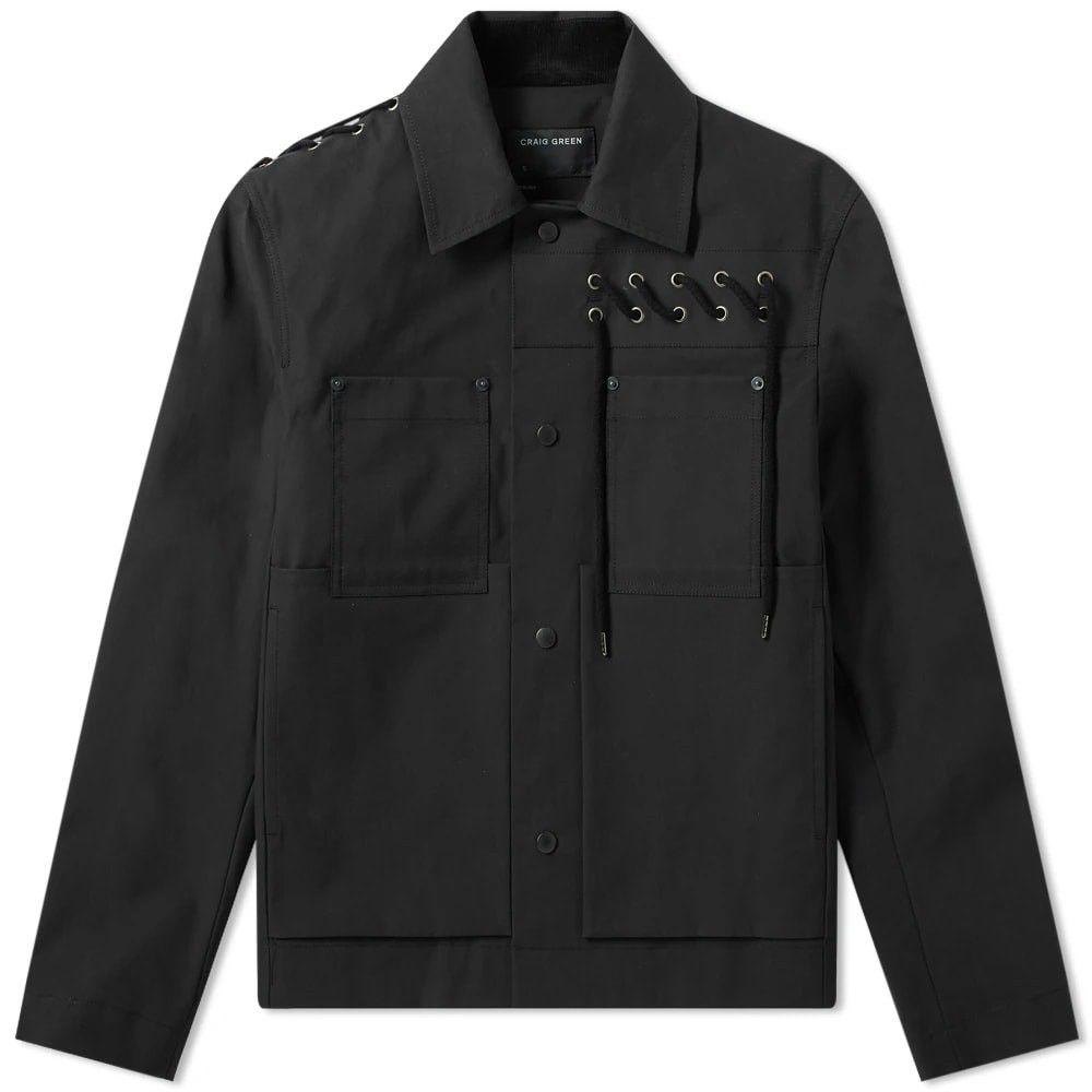 クレイググリーン Craig Green メンズ ジャケット ワークジャケット アウター【laced bonded worker jacket】Black