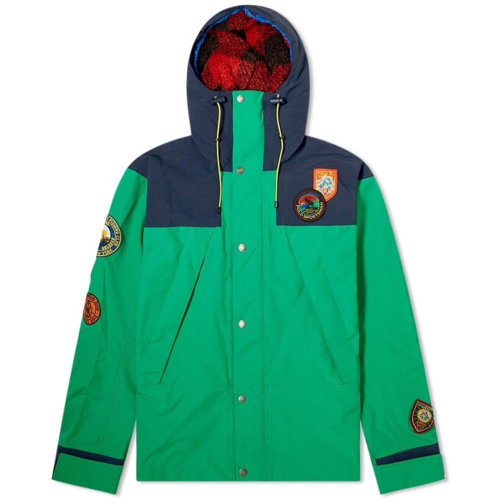 ラルフ ローレン Polo Ralph Lauren メンズ ジャケット アウター【sportsman patch hooded jacket】Cruise Navy/Kayak Green