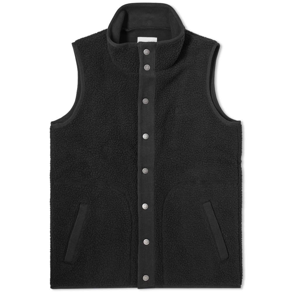 グラミチ Gramicci メンズ ベスト・ジレ トップス【boa fleece vest】Black