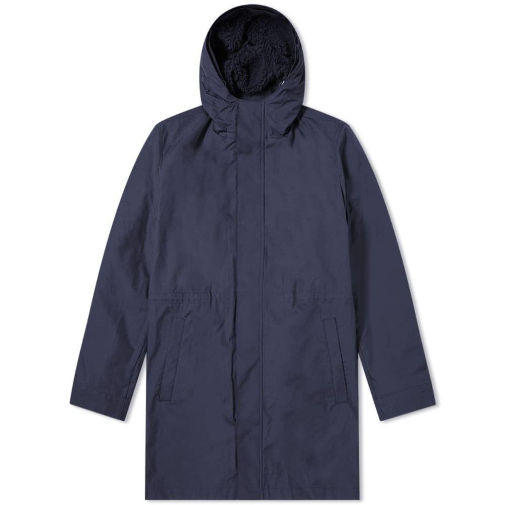 ノースプロジェクト Norse Projects メンズ ジャケット アウター【elias cambric 3 in 1 jacket】Navy