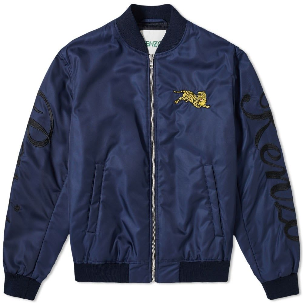 ケンゾー Kenzo メンズ ブルゾン ミリタリージャケット アウター【jumping tiger bomber jacket】Navy Blue