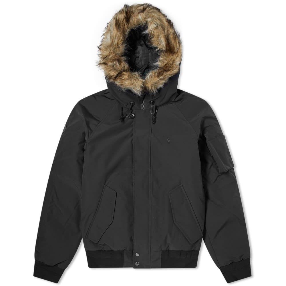 ラルフ ローレン Polo Ralph Lauren メンズ ダウン・中綿ジャケット アウター【faux fur trim down jacket】Black