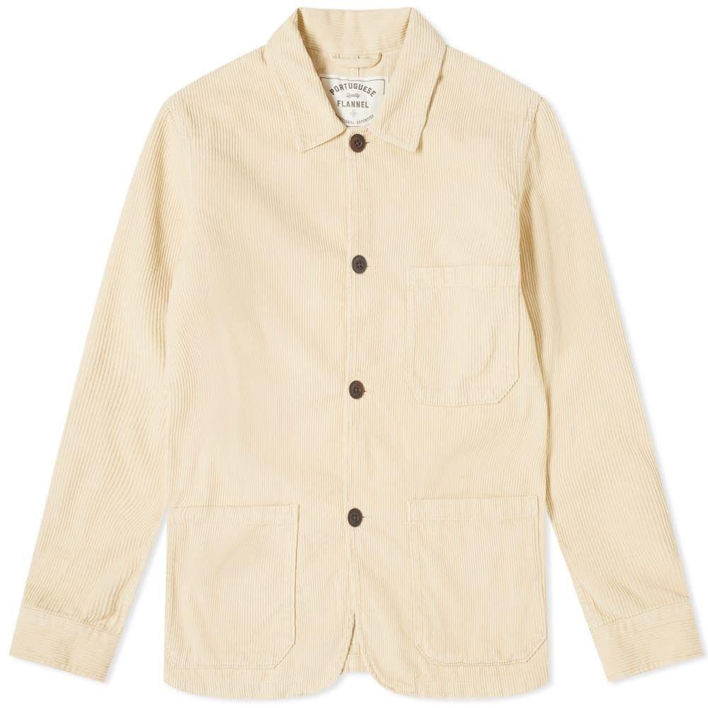 ポーチュギースフランネル Portuguese Flannel メンズ ジャケット アウター【labura corduroy chore jacket】Cream