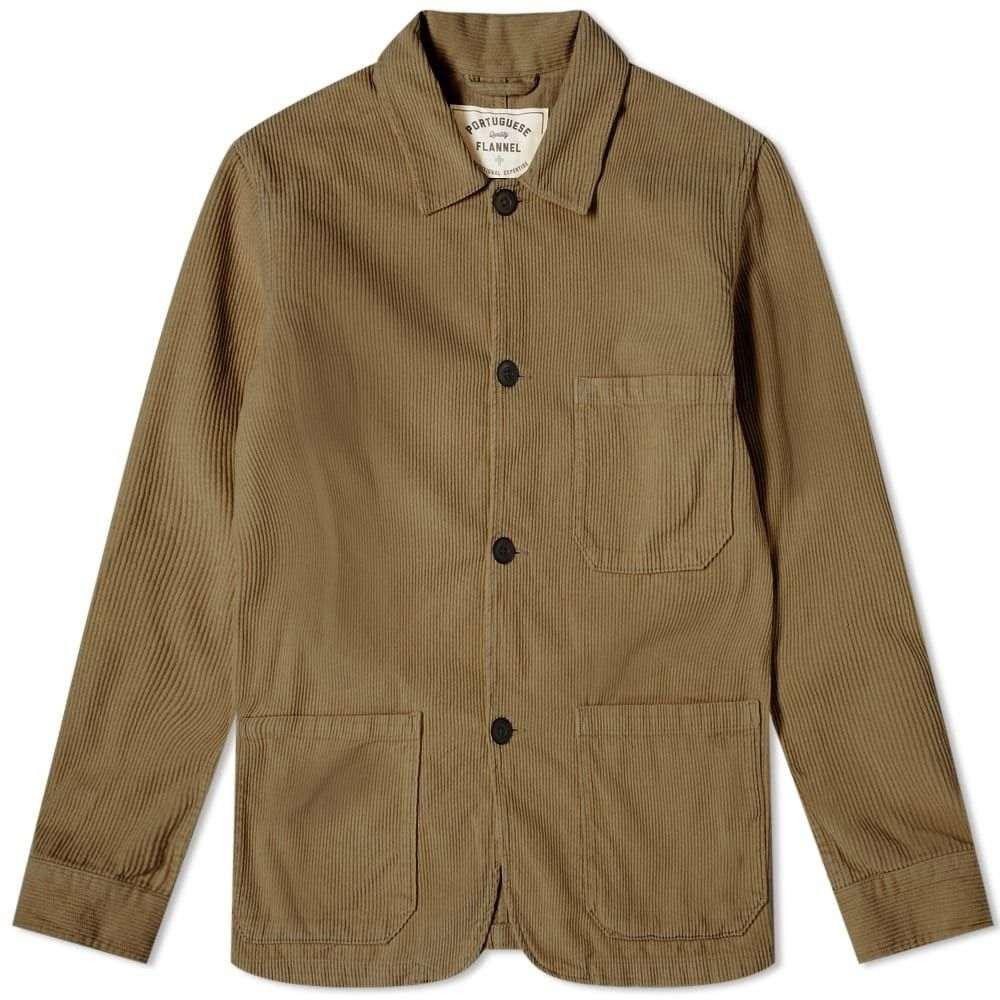 ポーチュギースフランネル Portuguese Flannel メンズ ジャケット アウター【labura corduroy chore jacket】Olive