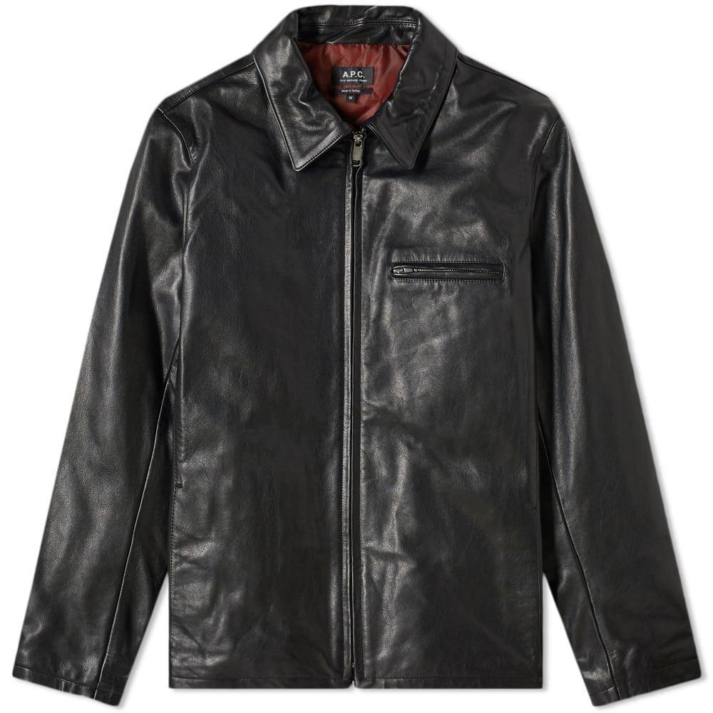 アーペーセー A.P.C. メンズ レザージャケット アウター【leather riders jacket】Black