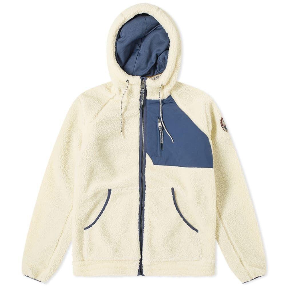 ナパピリ Napapijri メンズ フリース トップス【toe fleece zip jacket】Whitecap