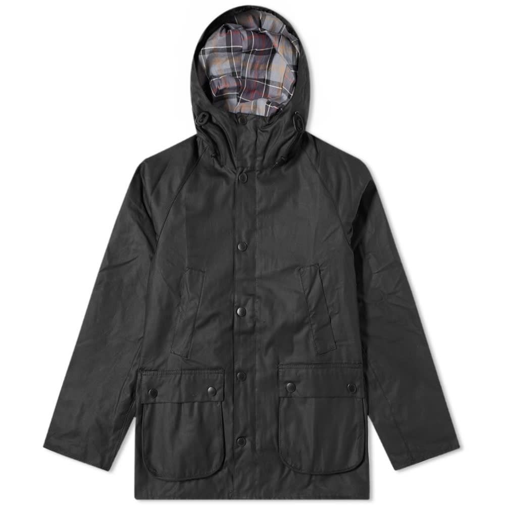 バブアー Barbour メンズ ジャケット アウター【sl bedale hooded wax jacket - white label】Black