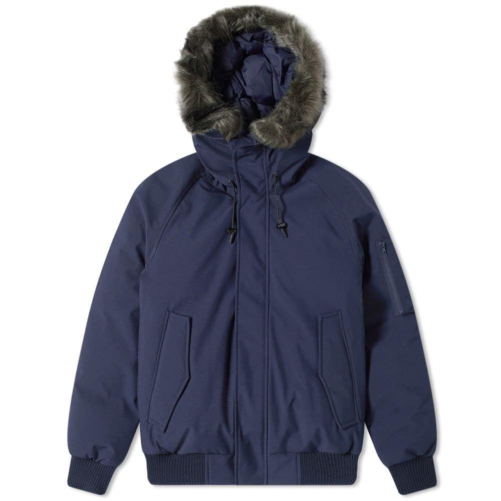 ケンゾー Kenzo メンズ ブルゾン ミリタリージャケット アウター【fur hooded bomber jacket】Navy Blue