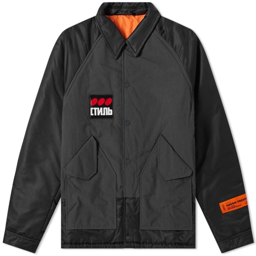 ヘロン プレストン Heron Preston メンズ ジャケット コーチジャケット アウター【ctnmb coach jacket】Black