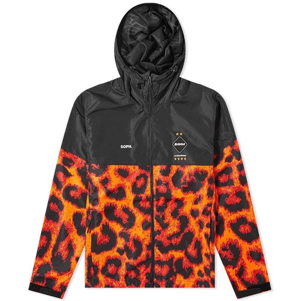エフシーレアルブリストル F.C. Real Bristol メンズ ジャケット アウター【practice jacket】Black/Orange Leopard