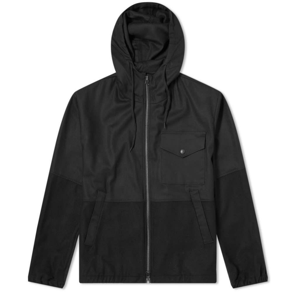 バレナ Barena メンズ ジャケット アウター【hooded patchwork jacket】Nero