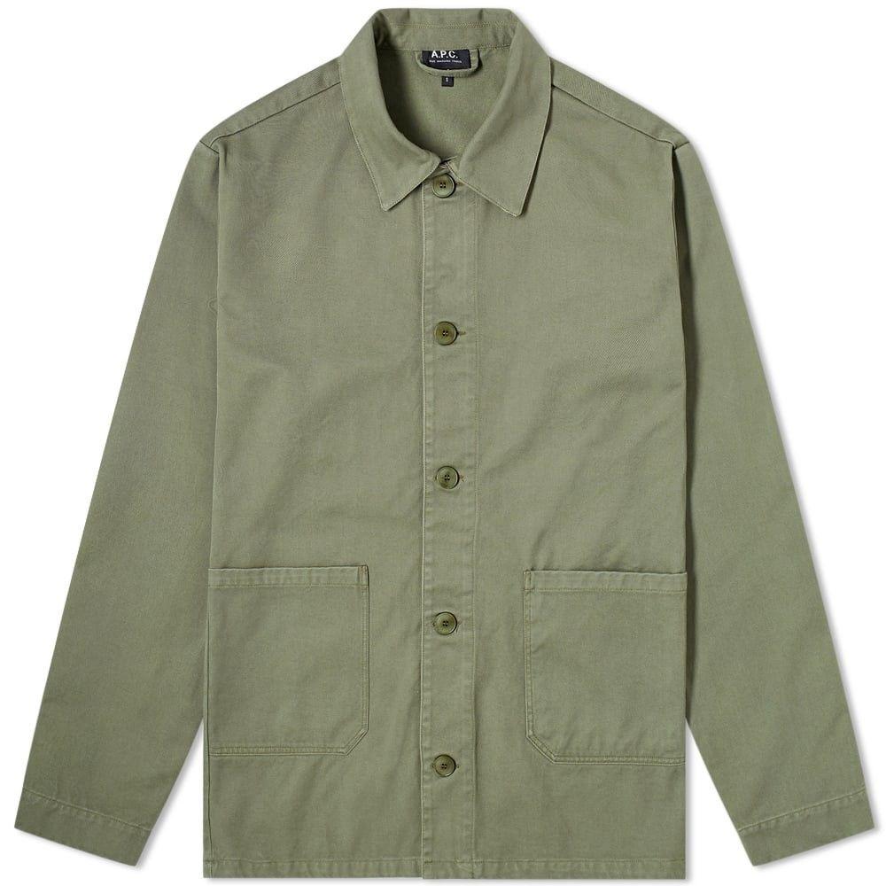 アーペーセー A.P.C. メンズ ジャケット ワークジャケット アウター【kerlouan work jacket】Dark Green
