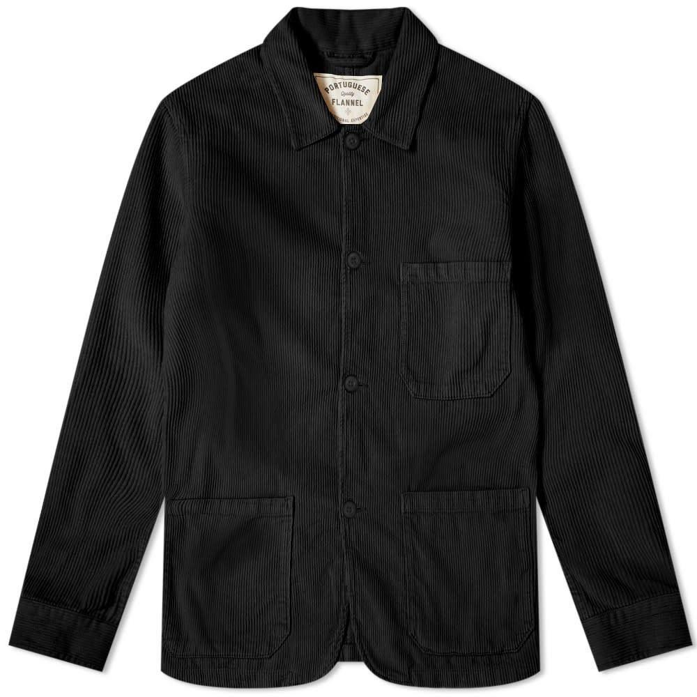 ポーチュギースフランネル Portuguese Flannel メンズ ジャケット アウター【labura corduroy chore jacket】Black