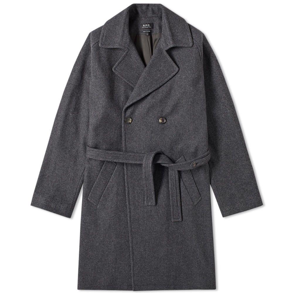 アーペーセー A.P.C. メンズ コート アウター【double breasted wool coat】Anthracite Marl