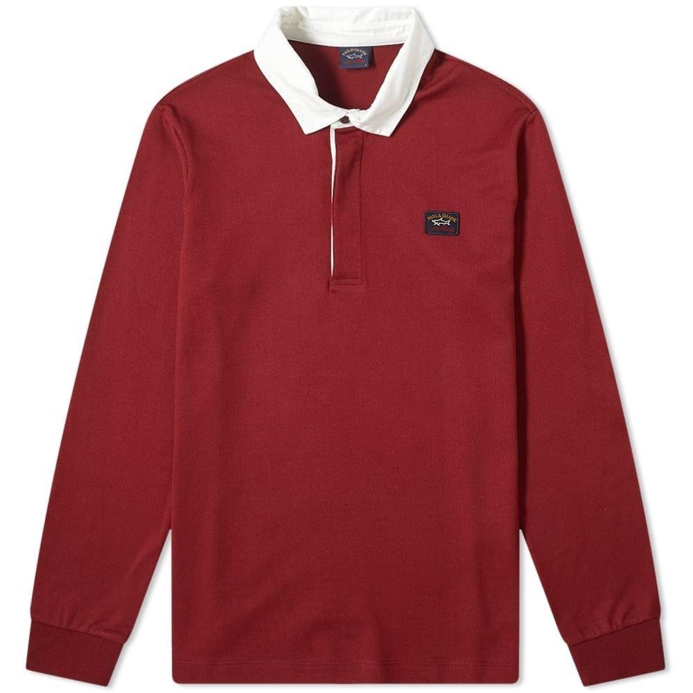 ポール シャーク Paul & Shark メンズ ポロシャツ トップス【contrast collar rugby shirt】Burgundy