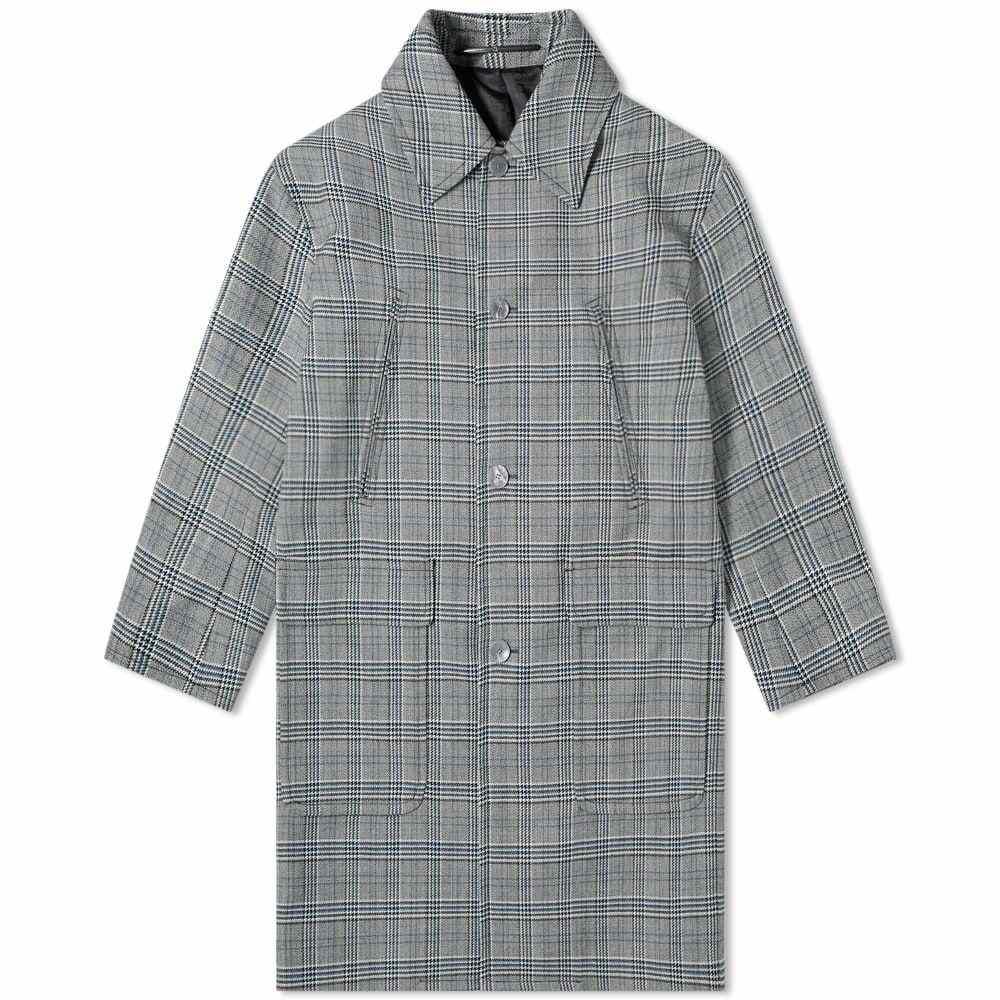 ジバンシー Givenchy メンズ コート アウター【prince of wales wool coat】Grey/Blue