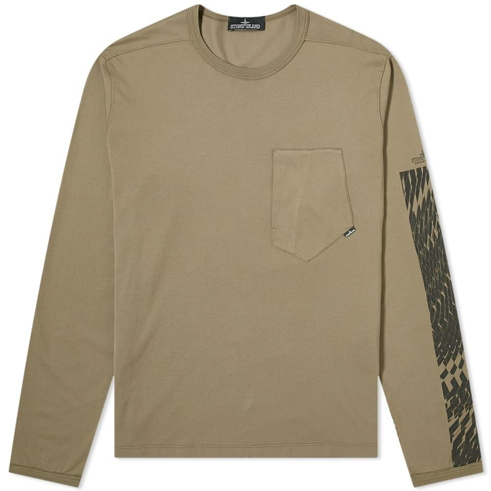 ストーンアイランド Stone Island Shadow Project メンズ 長袖Tシャツ トップス【long sleeve mako print tee】Military Green