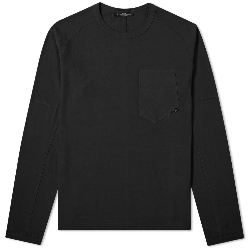 ストーンアイランド Stone Island Shadow Project メンズ 長袖Tシャツ トップス【long sleeve carded jersey tee】Black