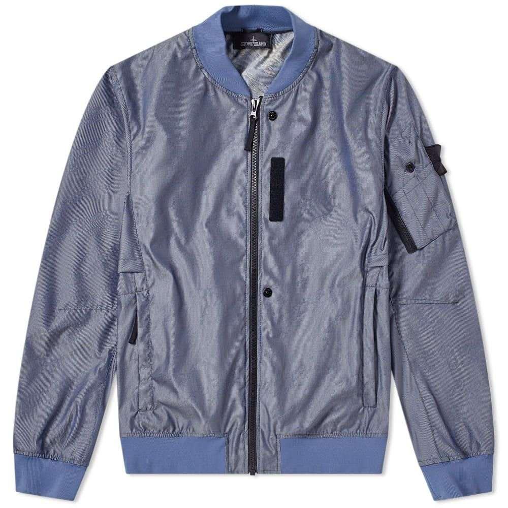 ストーンアイランド Stone Island Shadow Project メンズ ブルゾン ミリタリージャケット アウター【lenticular jacquard zip bomber jacket】Bluette