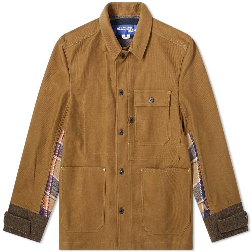 ジュンヤ ワタナベ Junya Watanabe MAN メンズ ジャケット アウター【canvas & tweed chore jacket】Beige/Brown