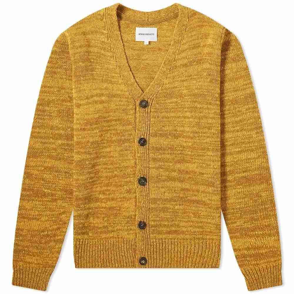 ノースプロジェクト Norse Projects メンズ カーディガン トップス【adam neps cardigan】Montpellier Yellow