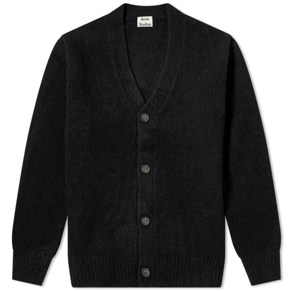 アクネ ストゥディオズ Acne Studios メンズ カーディガン トップス【kabelo cashmix knit cardigan】All Black
