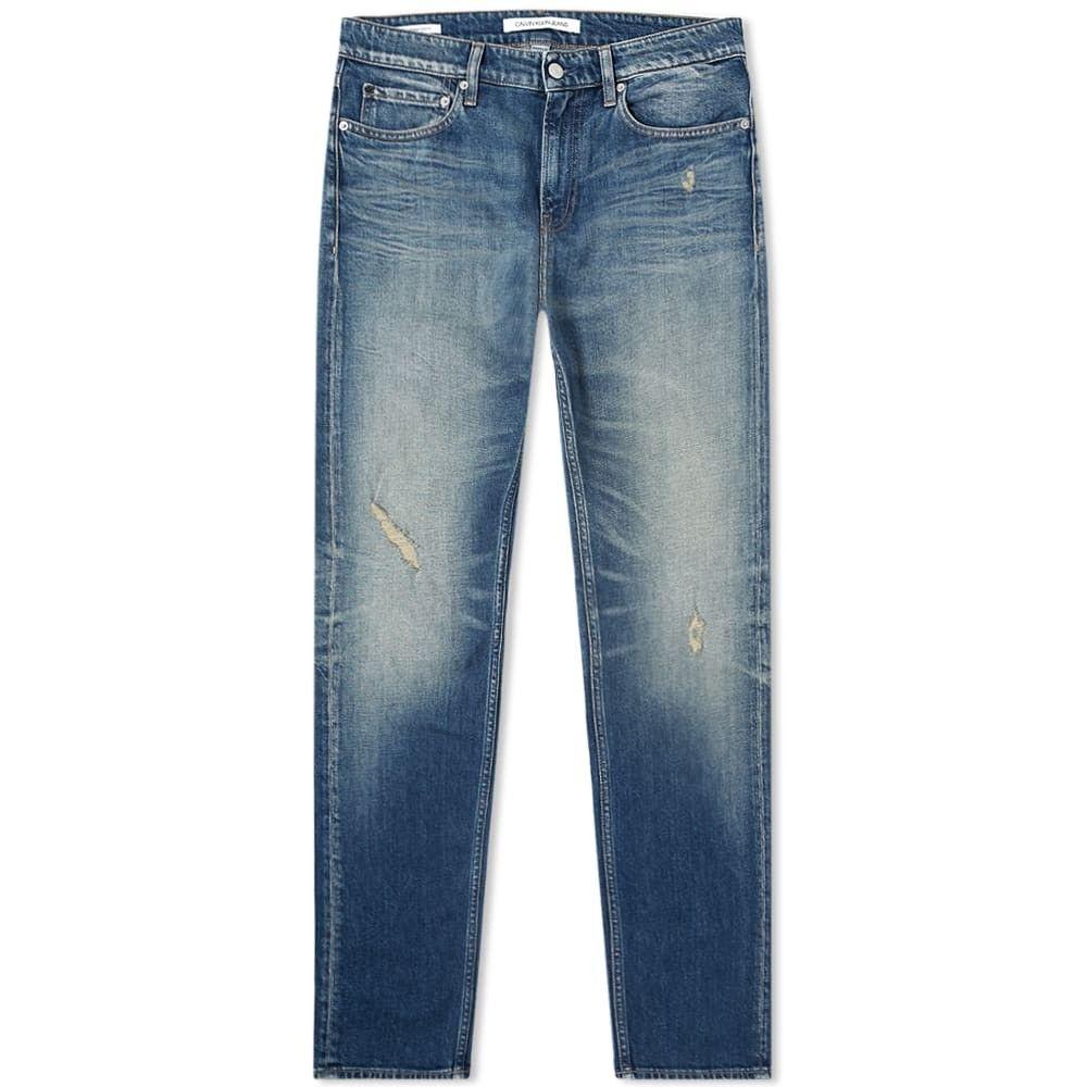 カルバンクライン Calvin Klein メンズ ジーンズ・デニム ボトムス・パンツ【026 slim 5 pocket jean】Mid Blue Denim