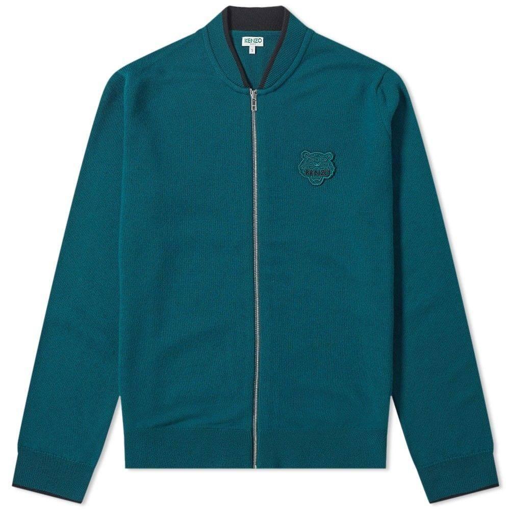 ケンゾー Kenzo メンズ カーディガン トップス【tiger zip knit cardigan】Pine