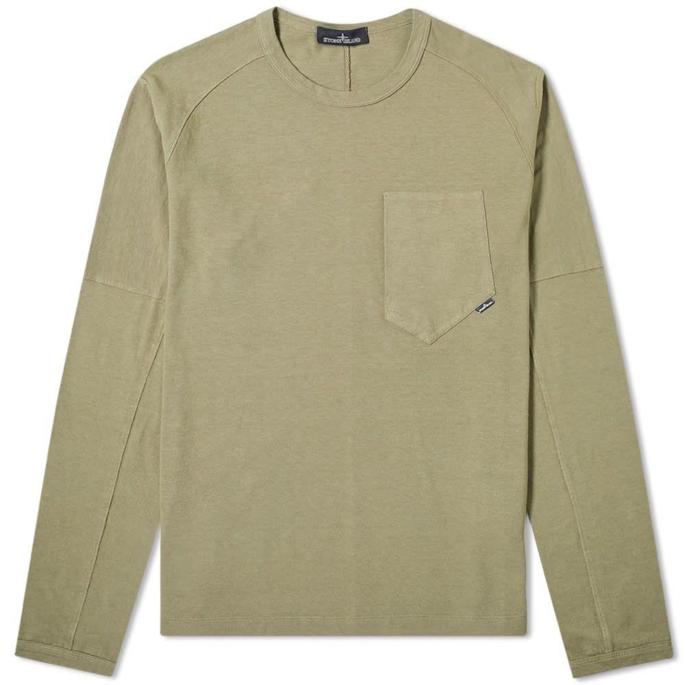 ストーンアイランド Stone Island Shadow Project メンズ 長袖Tシャツ トップス【long sleeve carded jersey tee】Military Green