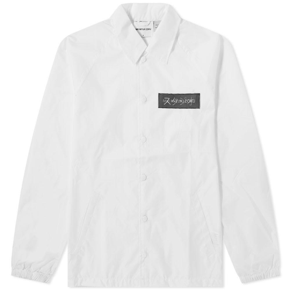 エムケーアイ MKI メンズ ジャケット コーチジャケット アウター【lenticular coach jacket】White