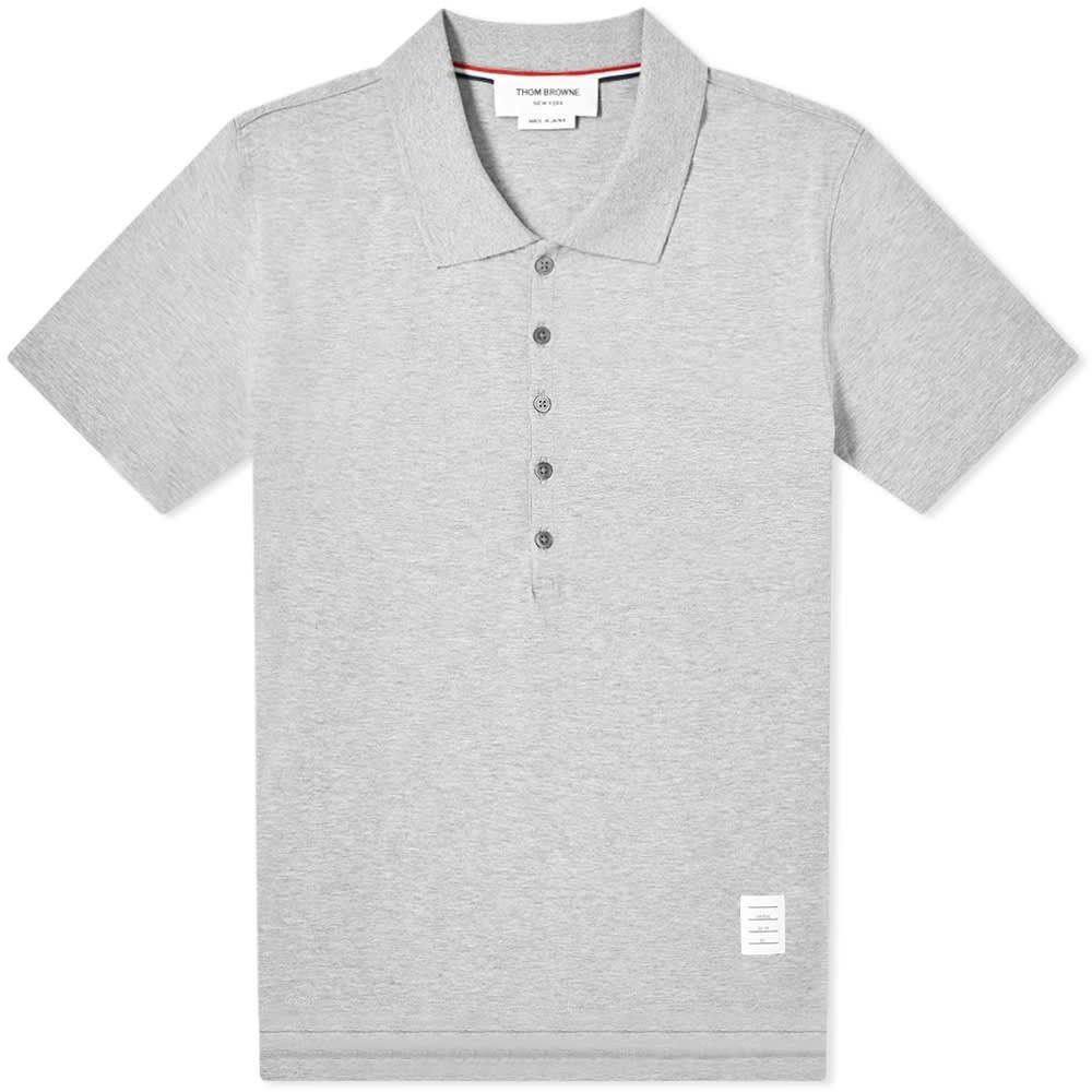 トム ブラウン Thom Browne メンズ ポロシャツ トップス【relaxed fit polo】Light Grey