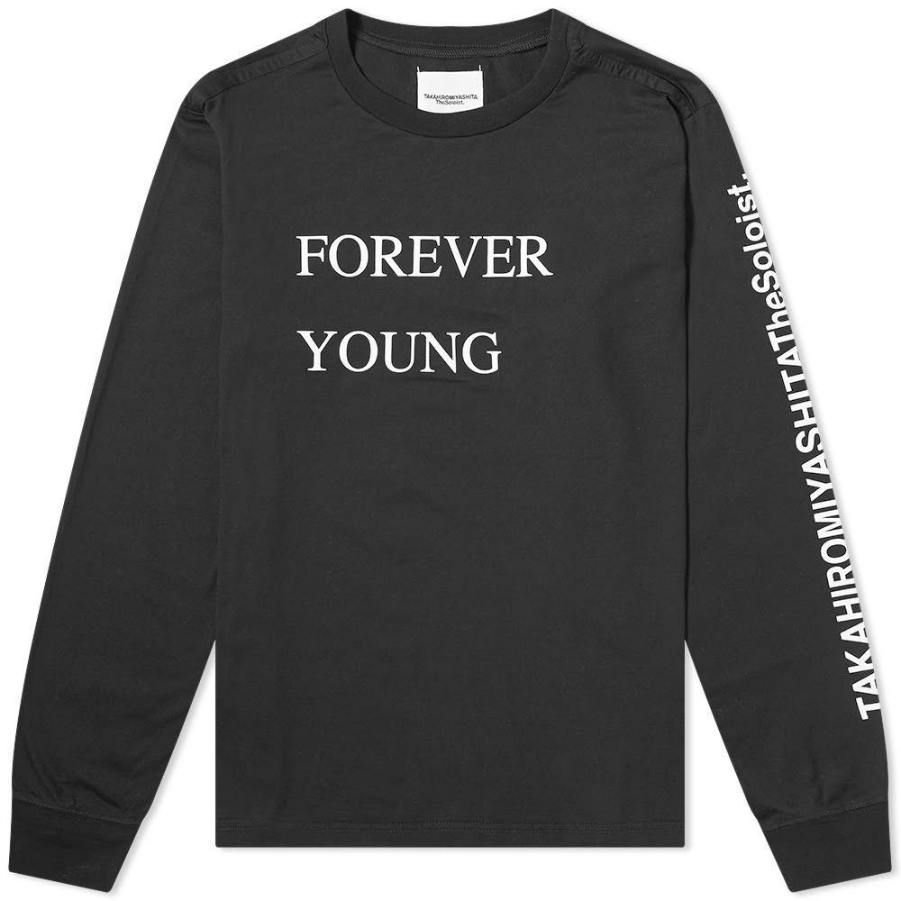 タカヒロミヤシタザソロイスト TAKAHIROMIYASHITA TheSoloist. メンズ 長袖Tシャツ トップス【long sleeve forever young tee】Black