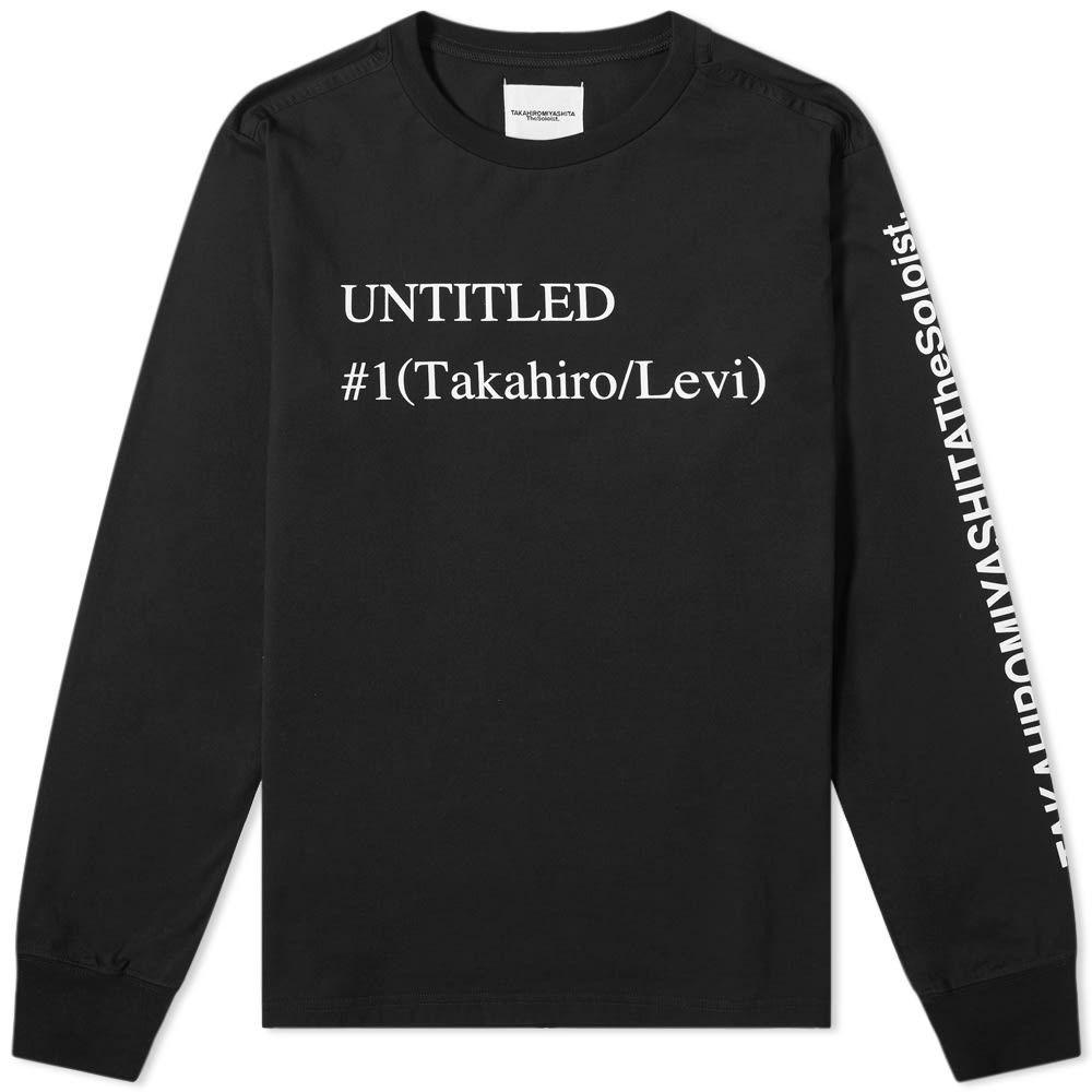 タカヒロミヤシタザソロイスト TAKAHIROMIYASHITA TheSoloist. メンズ 長袖Tシャツ トップス【long sleeve untitled tee】Black