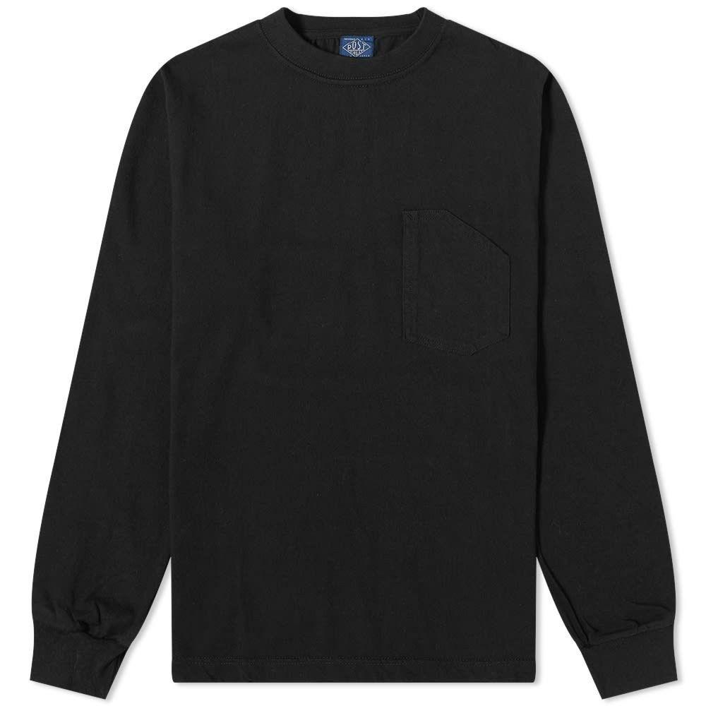 ポストオーバーオールズ Post Overalls メンズ 長袖Tシャツ ポケット トップス【long sleeve pocket tee】Black