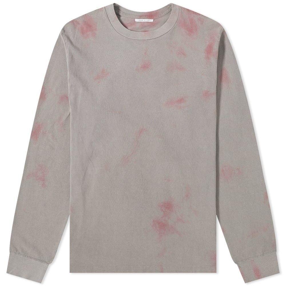ジョン エリオット John Elliott メンズ 長袖Tシャツ トップス【long sleeve double dye university tee】Grey/Pink