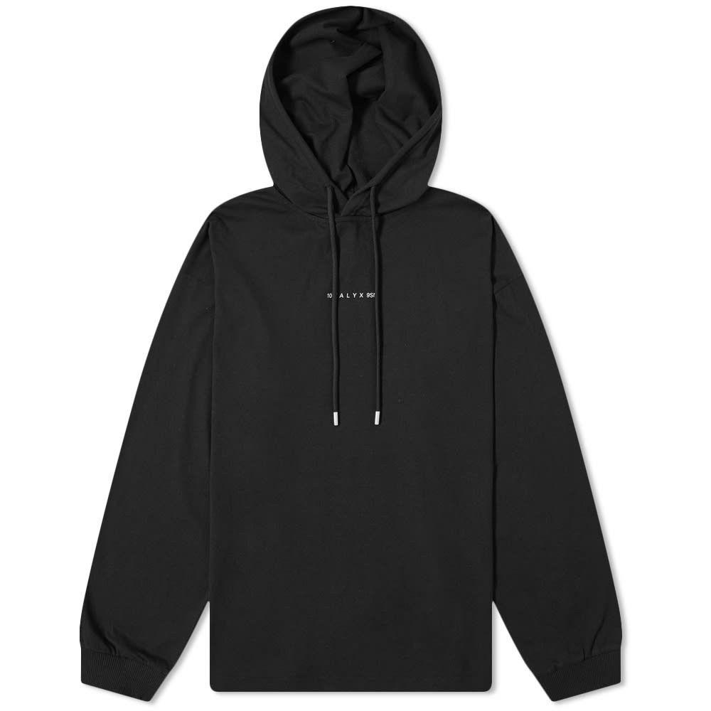 アリクス 1017 ALYX 9SM メンズ 長袖Tシャツ トップス【visual hooded tee】Black