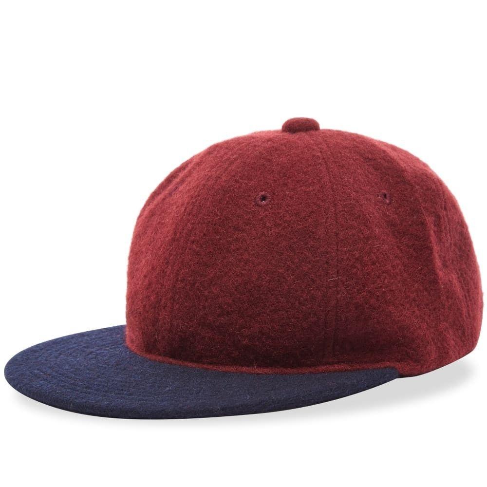 ビームス プラス メンズ 帽子 キャップ Burgundy 【サイズ交換無料】 ビームス プラス Beams Plus メンズ キャップ 帽子【melton 6 panel cap】Burgundy