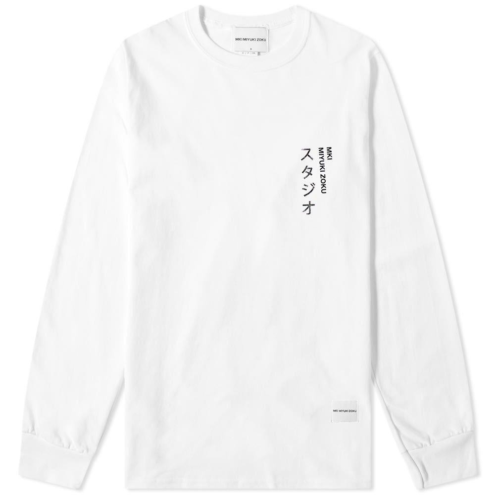 エムケーアイ MKI メンズ 長袖Tシャツ トップス【long sleeve autumn winter '19 tee】White
