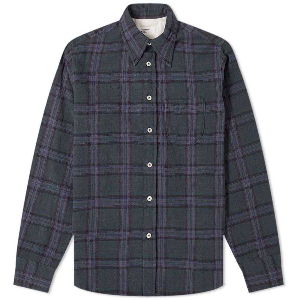 ユニバーサルワークス Universal Works メンズ シャツ トップス【brook check shirt】Navy