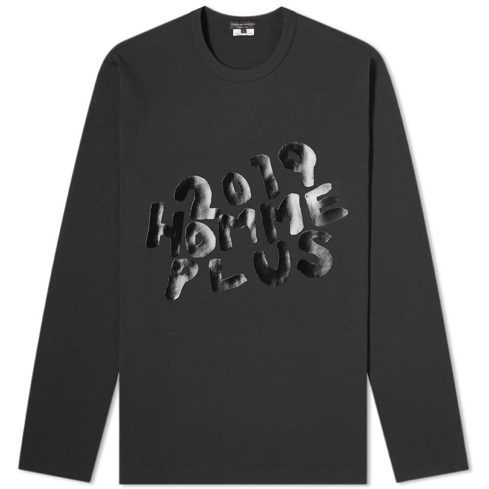 コム デ ギャルソン Comme des Garcons Homme Plus メンズ 長袖Tシャツ トップス【long sleeve printed tee】Black